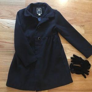 Gymboree black coat and gloves!